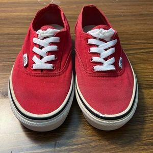 Van's red Old skool casual outdoor sneakers